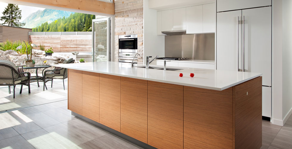 West Vancouver residential modern  		kitchen millwork